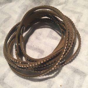 Wrap Bracelet Multi Strand Rhinestones Sparkly